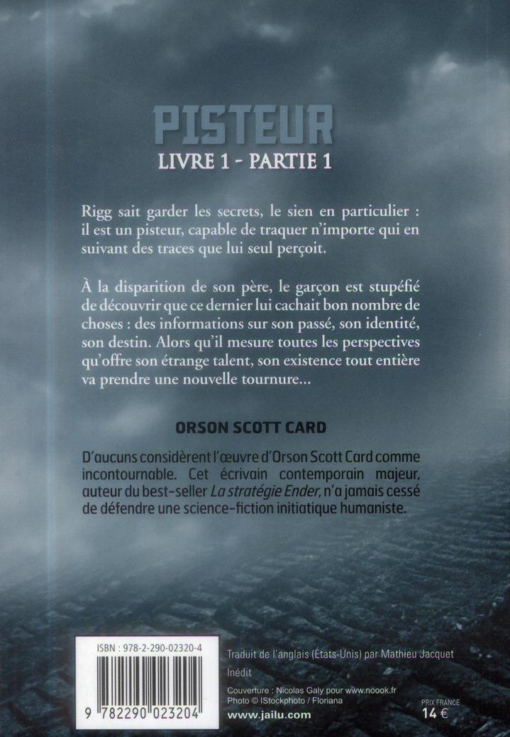 Pisteur ; livre 1, partie 1
