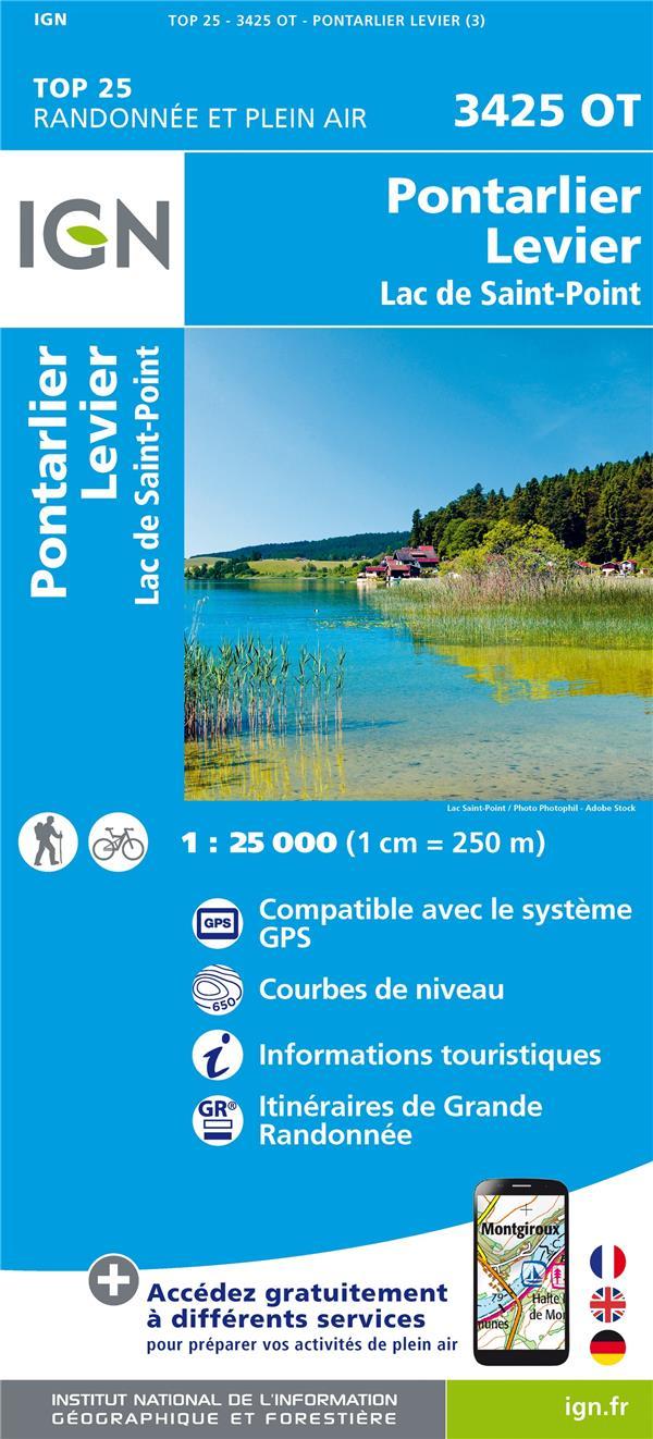 3425OT ; Pontarlier ; Levier-Lac de St-Point (3e édition)