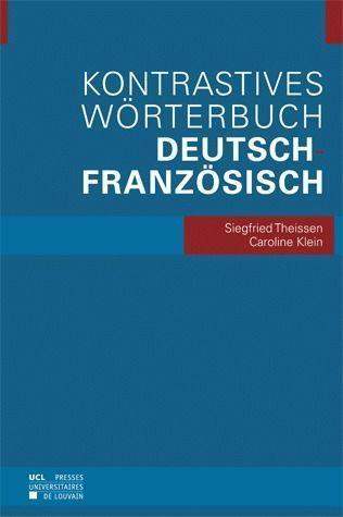 Kontrastives wörterbuch deutsch-französisch