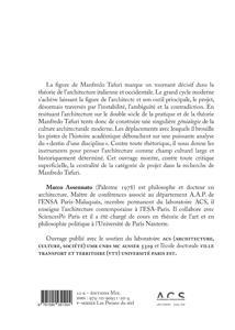 La muse inquiétante ; architecture & société chez Manfredi Tafuro
