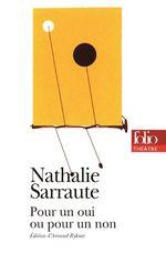 Vente Livre Numérique : Pour un oui ou pour un non  - Nathalie Sarraute