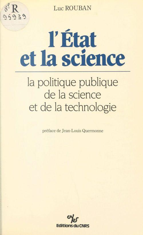 L'etat et la science