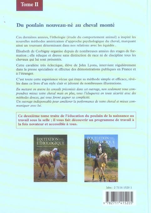 équitation éthologique t.2 ; du poulain nouveau-né au cheval monté