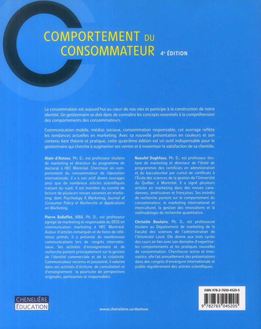 comportement du consommateur (4e édition)