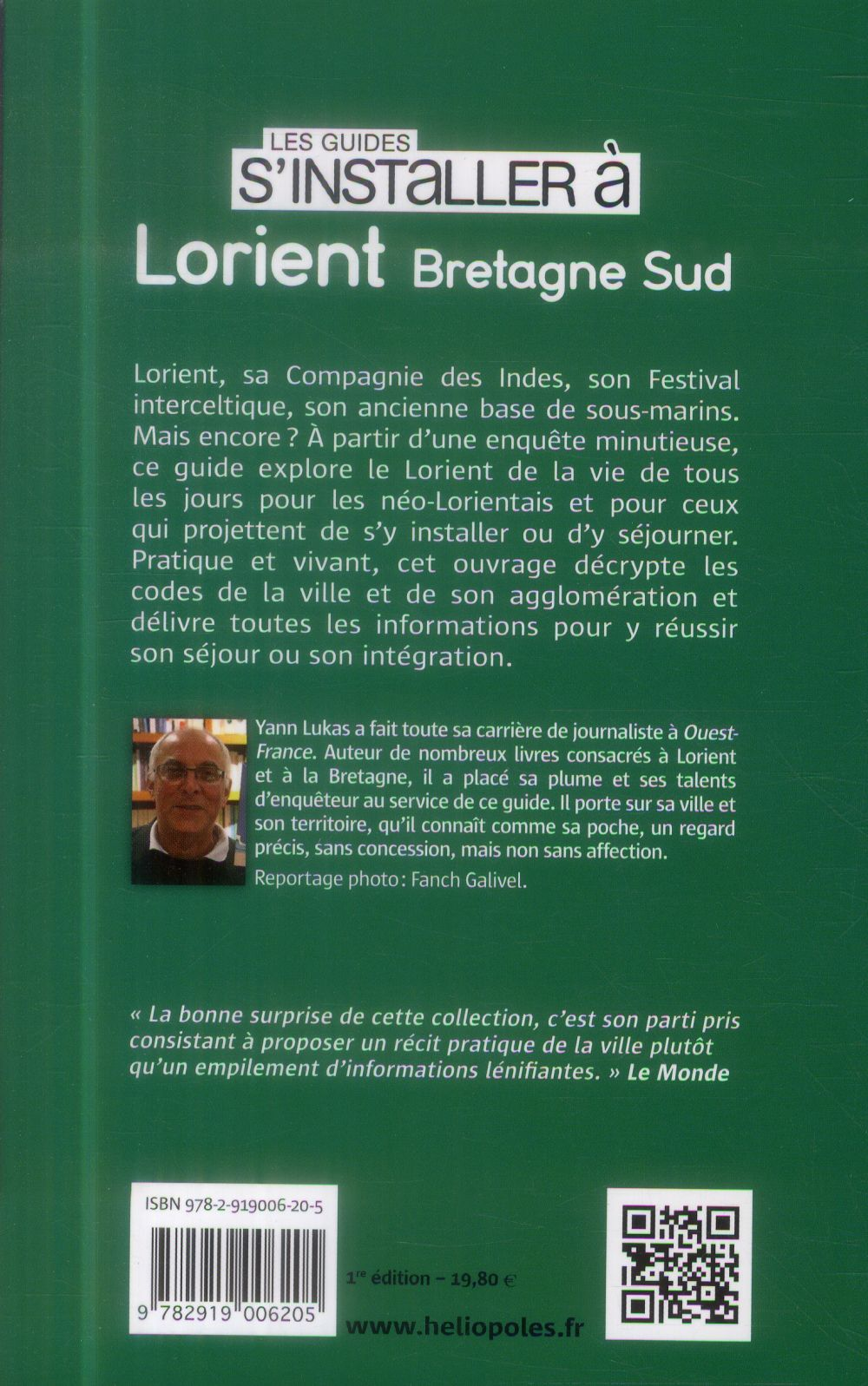 LES GUIDES S'INSTALLER A ; Lorient, Bretagne Sud