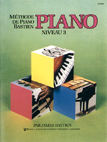 Méthode de piano Bastien ; niveau 3