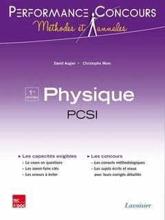 PERFORMANCE CONCOURS ; physique ; PCSI 1re année