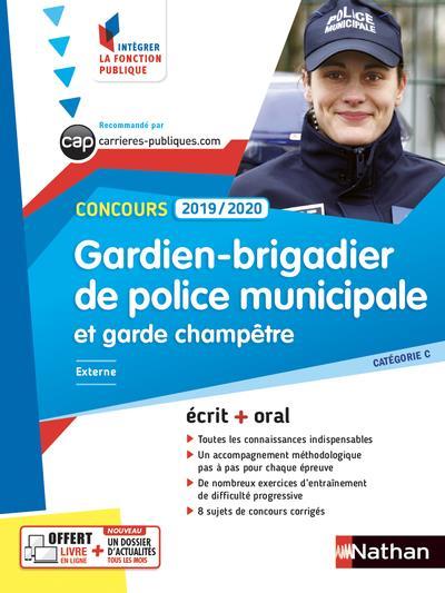 CONCOURS GARDIEN-BRIGADIER DE POLICE MUNICIPALE ET GARDE CHAMPETRE  -  CATEGORIE C (EDITION 20192020)