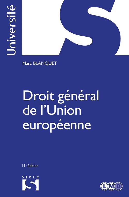 Droit général de l'union européenne (11e édition)