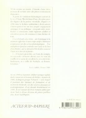 Ossia ; variations à la mémoire de nadeja et ossip mandelstam