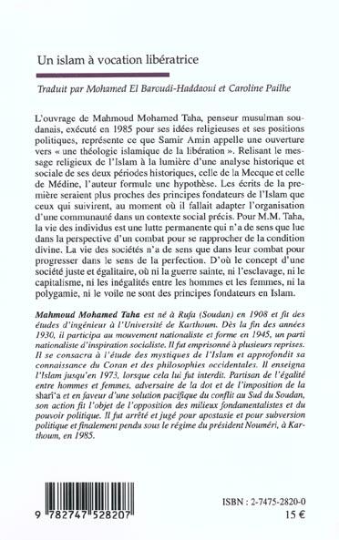 Un islam a vocation liberatrice