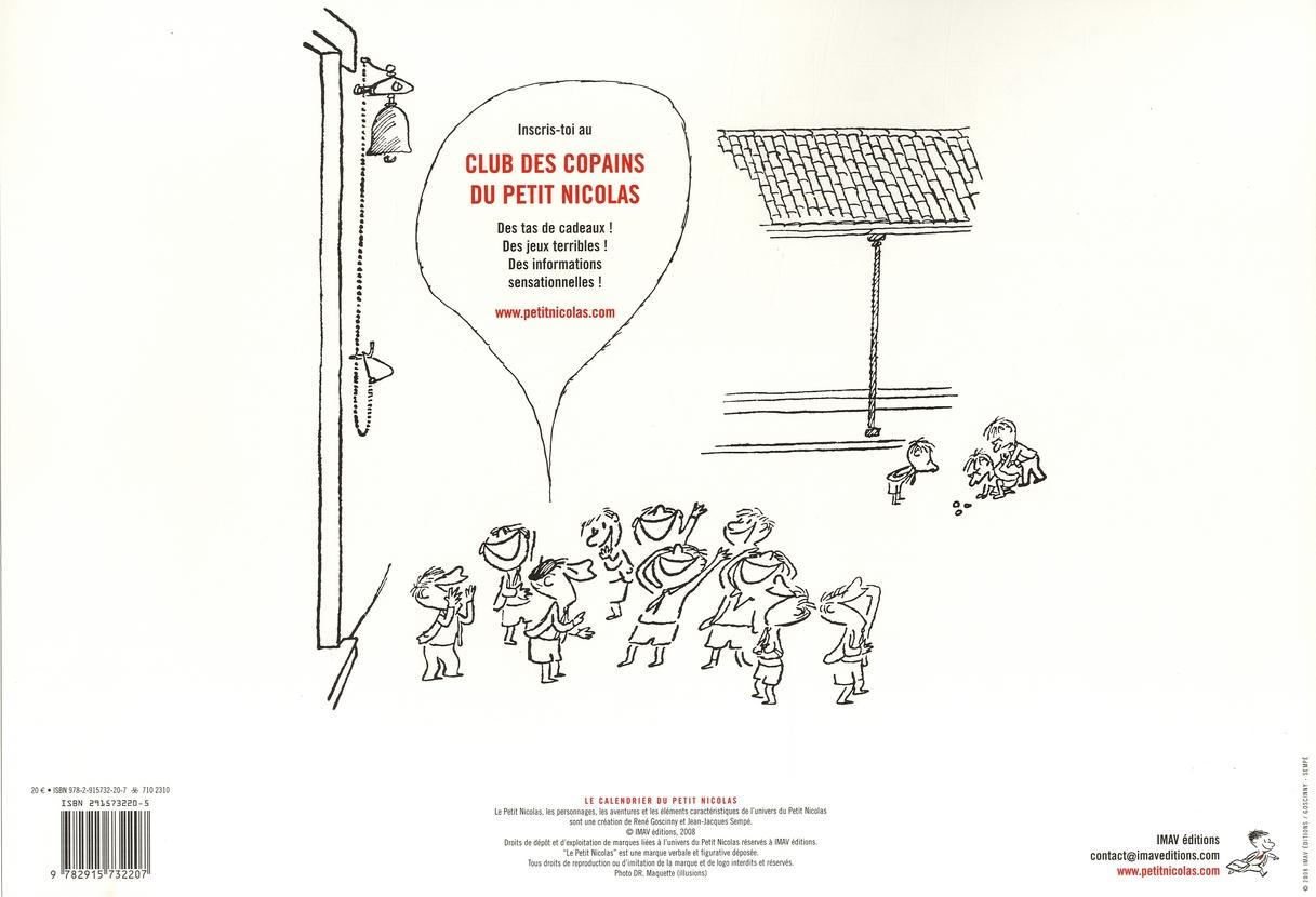 Le calendrier du petit Nicolas 2009