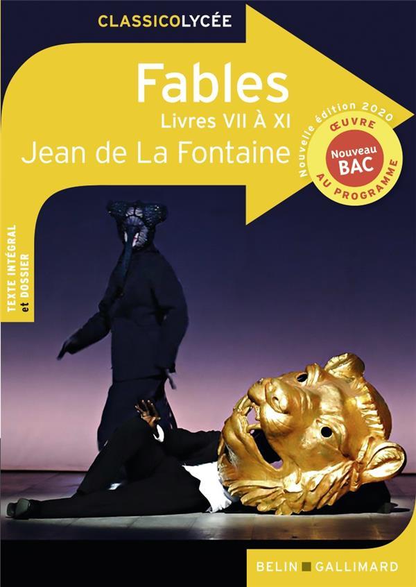 LA FONTAINE, JEAN DE - FABLES (LIVRES VII A XI) (EDITION 2020)