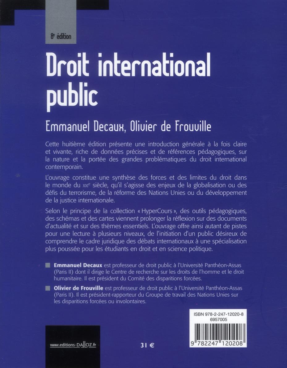 Droit international public (8e édition)