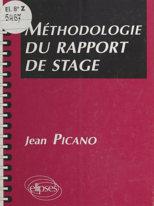 Methodologie du rapport de stage