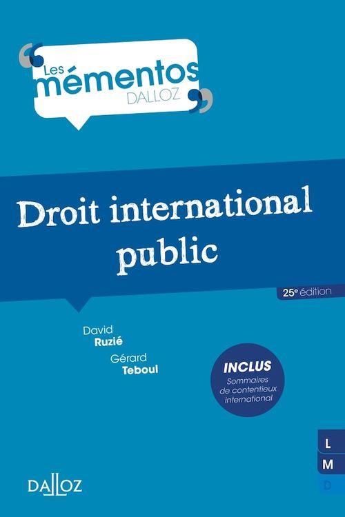 droit international public (25e édition)