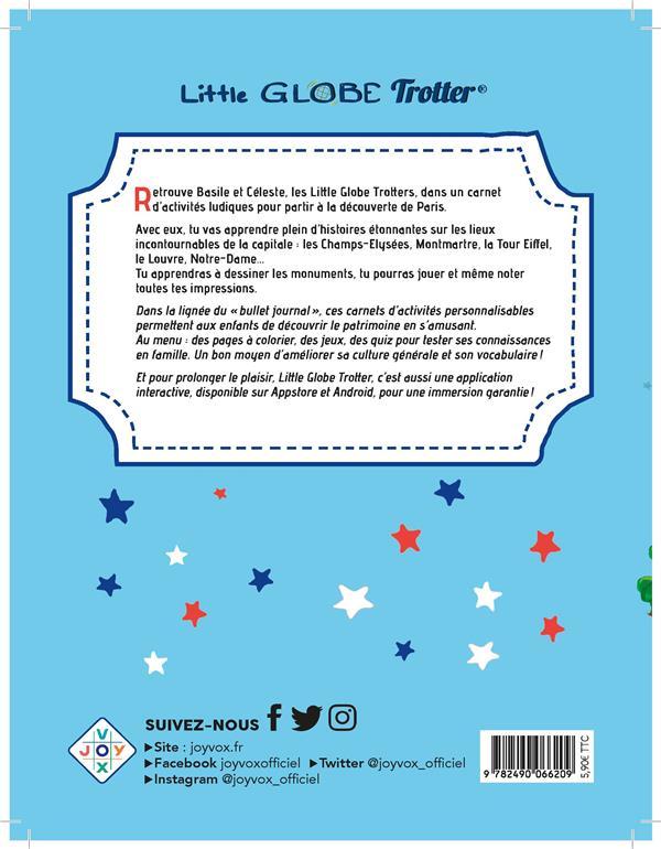 Mon carnet d'activités sur Paris, avec les Little Globe Trotter