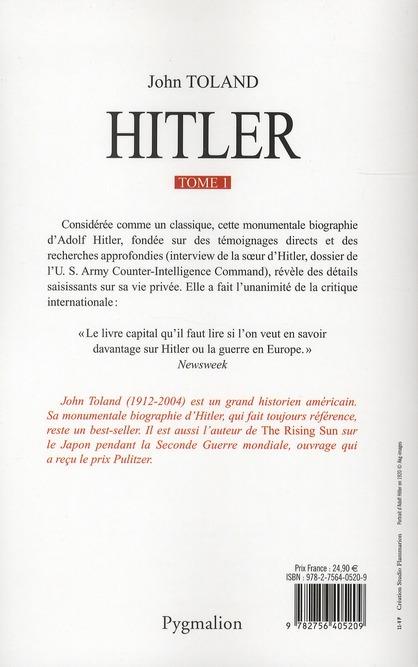 Hitler t.1 ; 20 avril 1889-Octobre 1938
