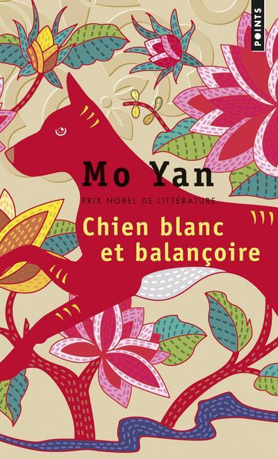 CHIEN BLANC ET BALANCOIRE