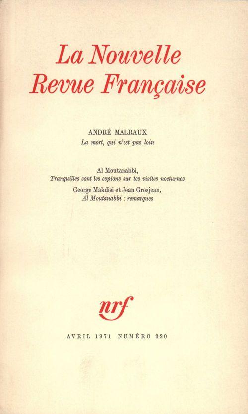 La n.r.f. 220 (avril 1971)