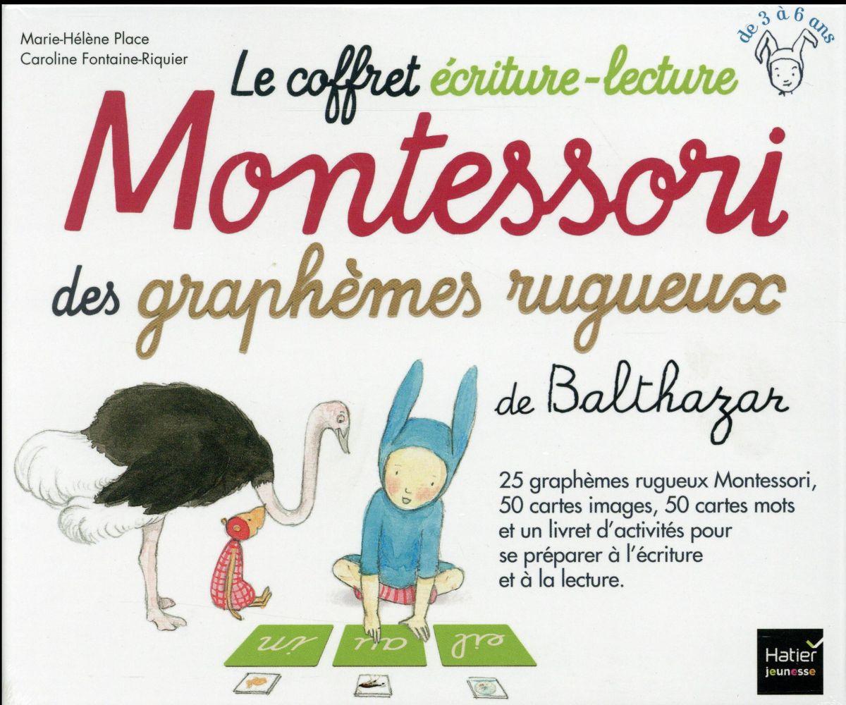 Le Coffret Ecriture-Lecture Montessori Des Graphemes Rugueux De Balthazar