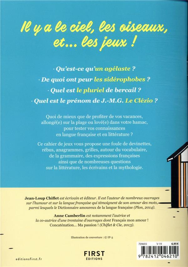 Cahier de jeux ; spécial langue française
