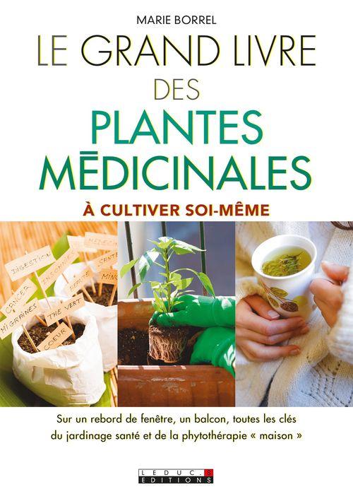 Le grand livre des plantes médicinales ; à cultiver soi-même ; sur un rebord de fenêtre, un balcon, toutes les clés du jardinage santé et de la phytothérapie