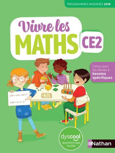 VIVRE LES MATHS ; CE2 ; fiches dyscool (édition 2020)
