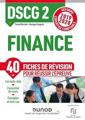 DSCG 2 Finance - Fiches de révision