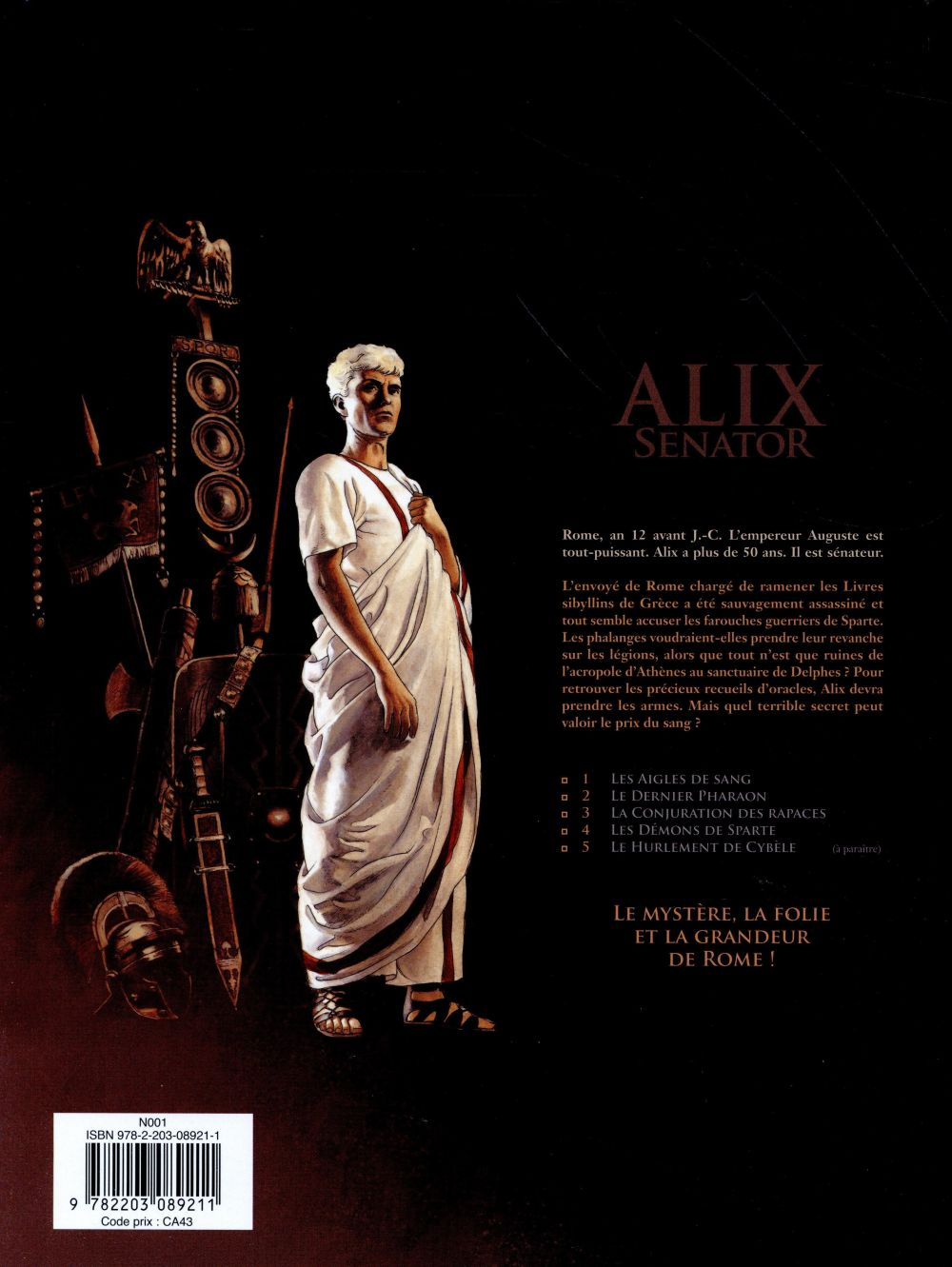 Alix Senator T.4 ; les démons de Sparte