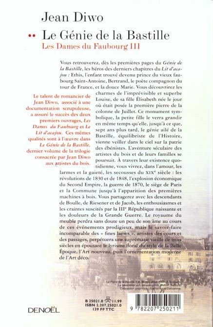 Les dames du faubourg t.3 ; le génie de la Bastille