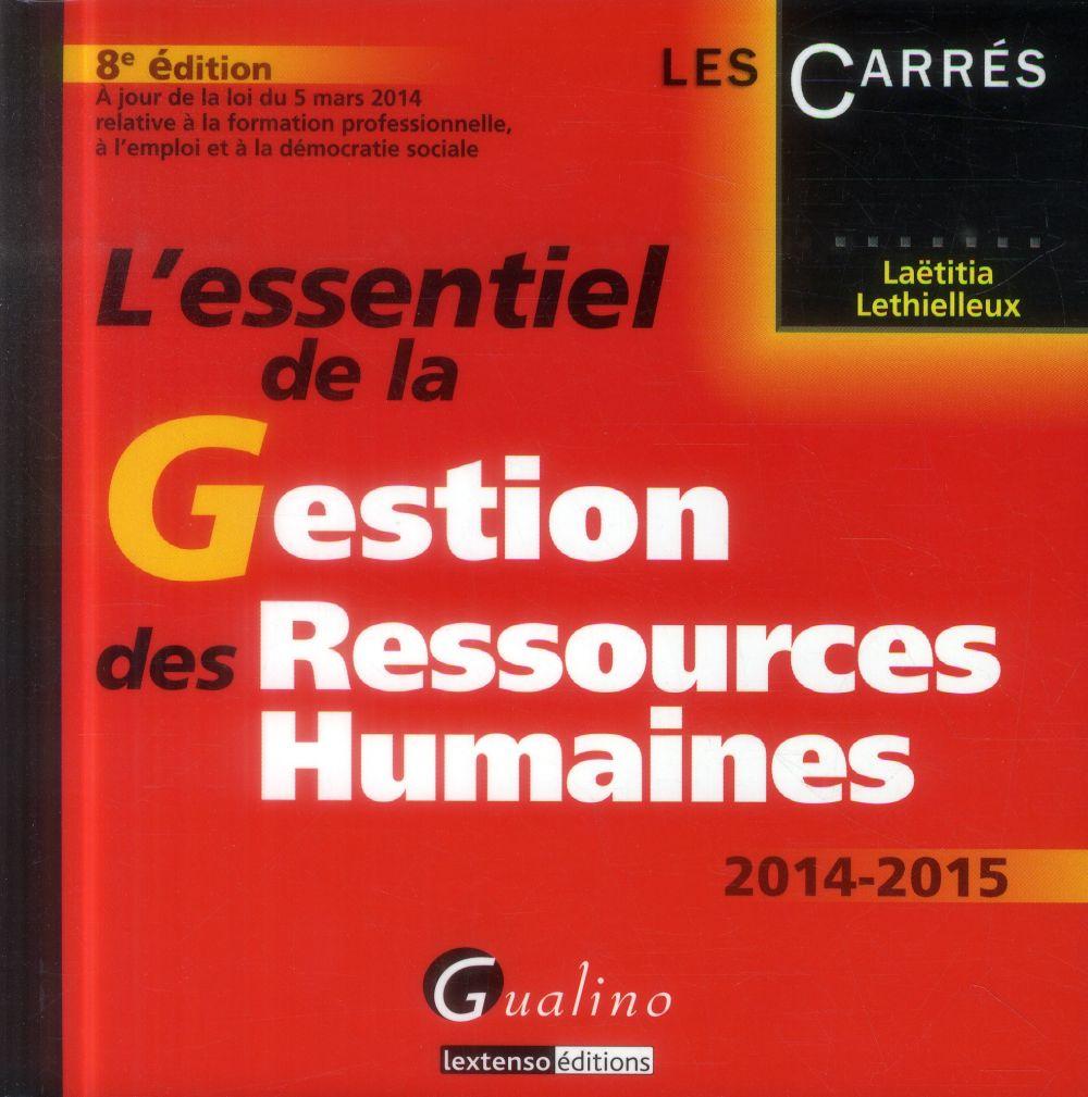 L'essentiel de la gestion des ressources humaines 2014-2015