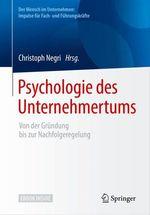 Psychologie des Unternehmertums  - Christoph Negri
