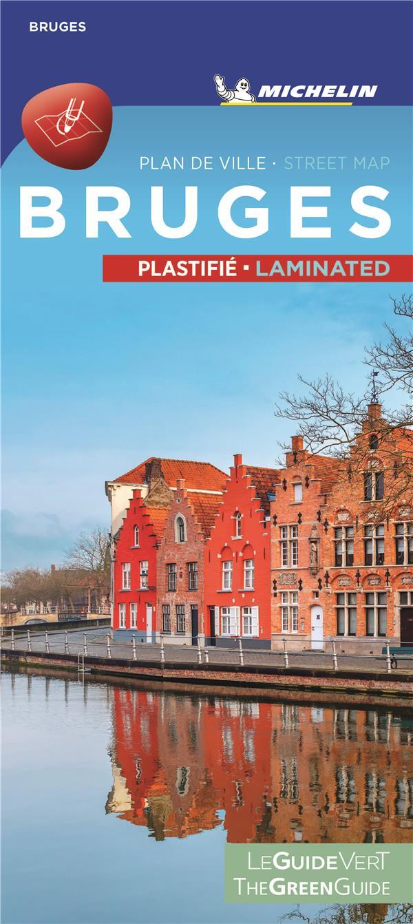Le guide vert ; Bruges ; plan de ville plastifié ; Bruges citymap laminated (édition 2020)