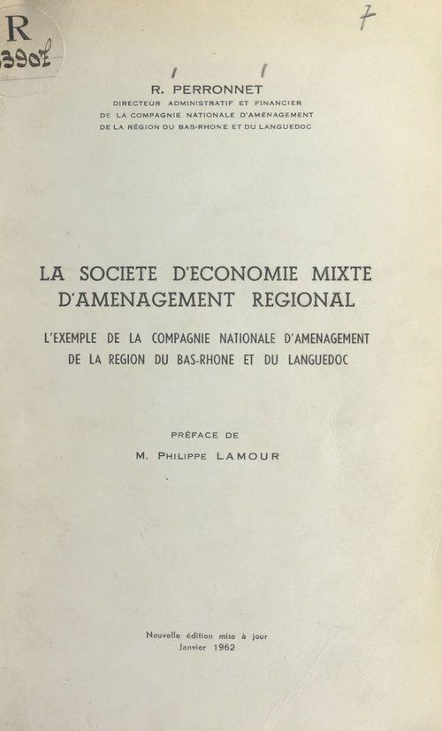 La société d'économie mixte d'aménagement régional
