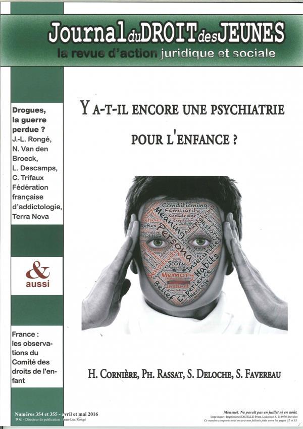 Journal du droit des jeunes n 354/355 avril/mai 2016