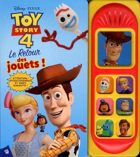 Les 7 boutons sonores ; Toy Story 4 ; le retour des jouets !