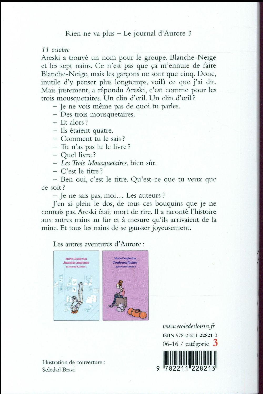 Le journal d'Aurore t.3 ; rien de va plus