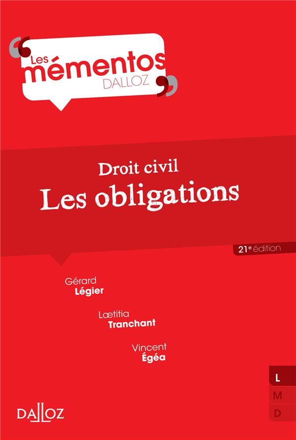 Droit Civil ; Les Obligations (21e Edition)