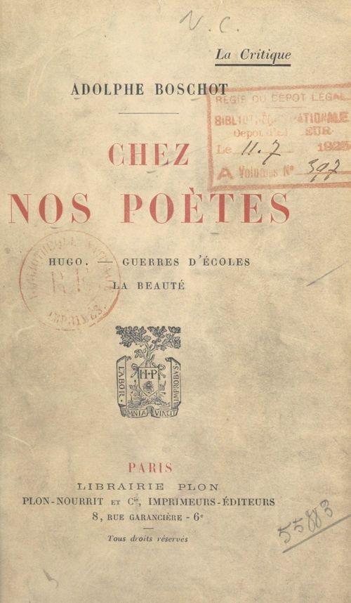 Chez nos poètes