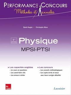 PERFORMANCE CONCOURS ; physique ; MPSI-PTSI 1re année