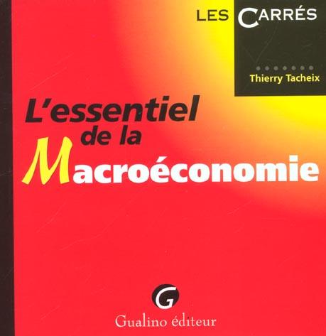 Essentiel de la macroeconomie