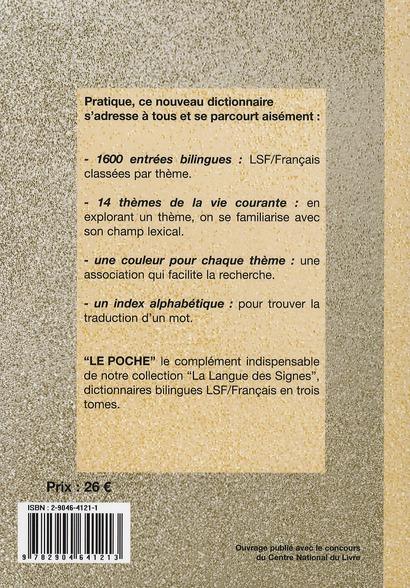 Le poche , dictionnaire bilingue L.S.F. / français