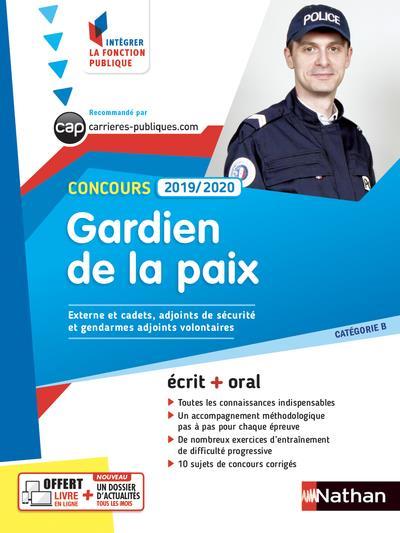 CONCOURS GARDIEN DE LA PAIX  -  CATEGORIE B (EDITION 20192020)