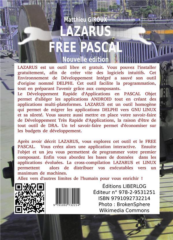 Lazarus free pascal ; developpement rapide