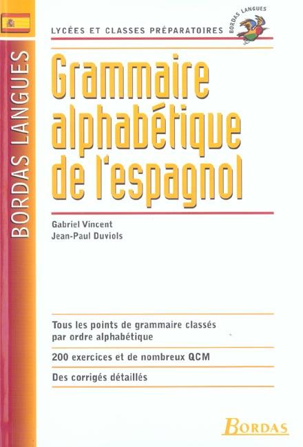 Grammaire alpha espagnol