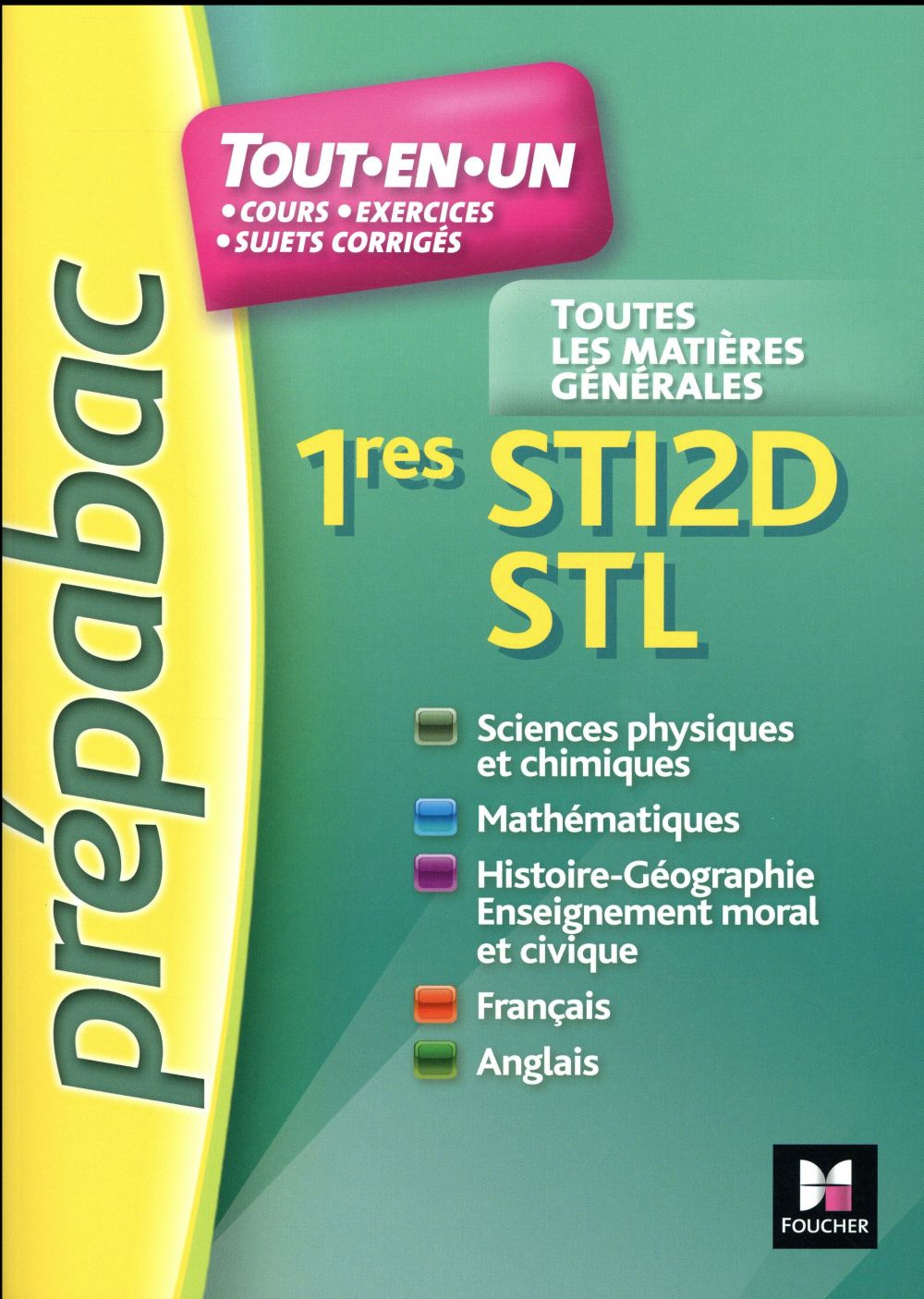 prépabac ; toutes les matières ; 1res STI2D STL