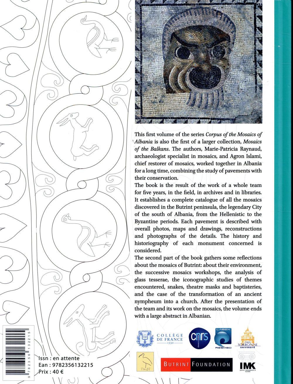 Corpus of the mosaics of Albania t.1 ; butrint intramuros