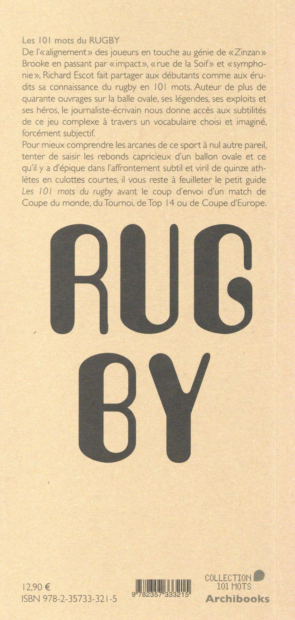 les 101 mots du rugby à l'usage de tous