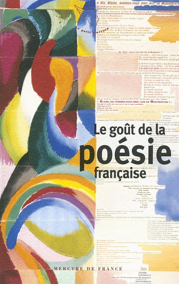 Le goût de la poésie française
